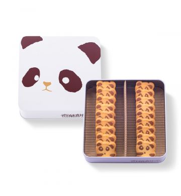 熊猫曲奇铁罐礼盒