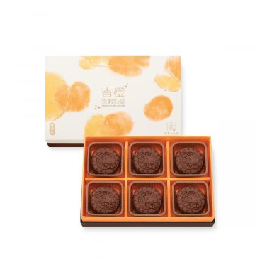 Yogurt Custard Mooncake with Orange Peel (6pcs)