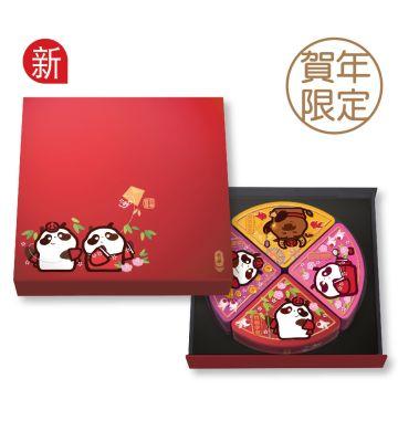 贺年熊猫糖果礼盒(4罐装)