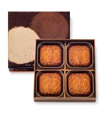 麥芽糖醇低糖雙黃純白蓮蓉月餅禮盒 (4個裝)